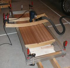 Convex / concave surface router jig - by Viktor @ LumberJocks.com ~ woodworking…