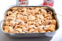 nutella bread cake with pudding