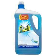 Flash liquid. Lemon or Ocean fragrance. This is a great, long lasting, all purpose cleaner for floors, walls etc. Streak free. Sold in a 5ltr container.