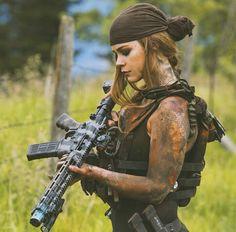 She looks badass.