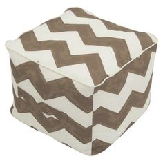 Threshold™ Outdoor Fabric Pouf - Taupe Chev
