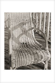 """""""Cane chair"""" is a fine art photograph by Jonathan Bourla.  This limited edition photograph was taken with a camera similar to the plate cameras of one hundred years ago, and is printed on one hundred percent acid-free cotton rag paper with pigment ink.  To see more of Jonathan's photographs, go to www.jonathanbourla.com"""