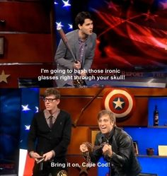 Ezra Koening from Vampire Weekend and The Black Keys battle it out on the Colbert Report