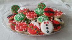 Christmas cookie set using round cutter
