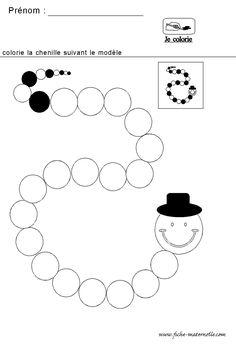 mathematiques maternelle algorithme de la chenille
