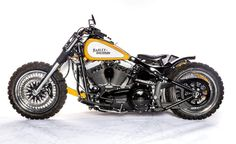 This custom Harley Davidson Softail Fat Boy with a sidecar by Hardcore Customs looks like a cool Scrambler ready for 2 to rip up the dirt. Harley Davidson For Sale, Harley Davidson Seats, Harley Davidson Posters, Harley Davidson Scrambler, Harley Davidson Dealers, Harley Softail, Harley Davidson T Shirts, Scrambler Motorcycle, Motorcycle Gear