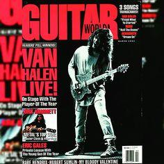 """MARCH 1992,..EDDIE VAN HALEN'S 9TH COVER APPEARANCE IN ▶GUITAR WORLD◀ MAGAZINE!"" #evh #eddievanhalen #alexvanhalen #diamonddave #davidleeroth #michaelanthony #Vintage #Klassik #Classic #Rock #Music #History #1990s #1992 #GuitarWorld #Magazine #cover #ThrowBackThursday #TBT #vantastikhistory #Vantastik #VanHalen #vanhalenhistory"