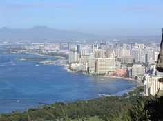 View from Diamond Head, Oahu, Hawaii