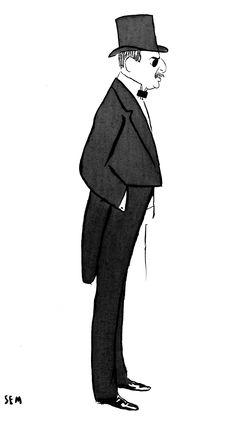 Caricature de Moïse de Camondo - Georges Goursat, dit Sem - 1904