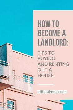 Need help learning the ins and outs on how to become a landlord? Getting started may be a little challenging, but buying and #renting out #property is a great #investment for generating income and building wealth. Read this guide to find out how to become a landlord! Millionairemob.com #HomeRentals #WealthBuilding #Hustling #RealEstateTips