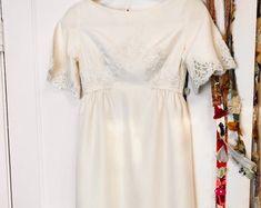 Antique 1890's White Cotton Victorian Wedding Dress   Etsy Bridal Gowns, Wedding Dresses, Lace Inset, Wool Dress, Celebrity Dresses, Blue Plaid, White Cotton, Veil, Vintage Outfits