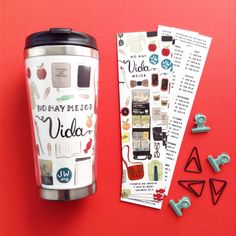 Best Life Ever travel mugs and bookmarks in Spanish are now ready to ship!