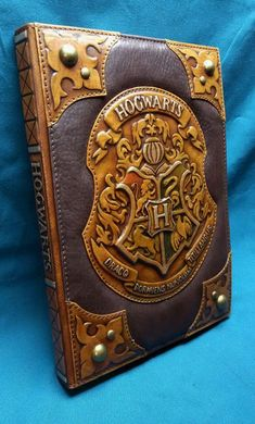 14 Luxury Harry Potter Gifts for Adults, DIY and Crafts, Leather Hogwarts Notebook Etsy Furmani. Harry Potter Spell Book, Harry Potter Notebook, Harry Potter Book Covers, Harry Potter Room, Harry Potter Gifts, Harry Potter Theme, Leather Book Covers, Leather Books, Leather Notebook