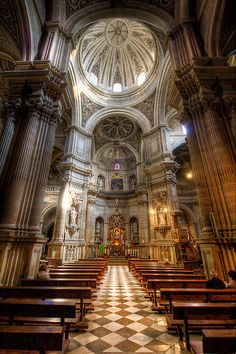 Cathedral in Granada, Spain Cathedral Architecture, Sacred Architecture, Religious Architecture, Architecture Details, Granada Andalucia, Granada Spain, Andalusia, The Places Youll Go, Places To See