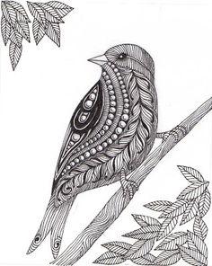 Banar Designs: Baby birds and Zentangle birds