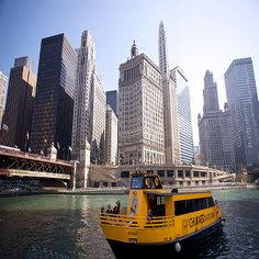 A Chicago Water Taxi is a great way to get around and gives you a different perspective of the city. Try taking it from Navy Pier to Chinatown.