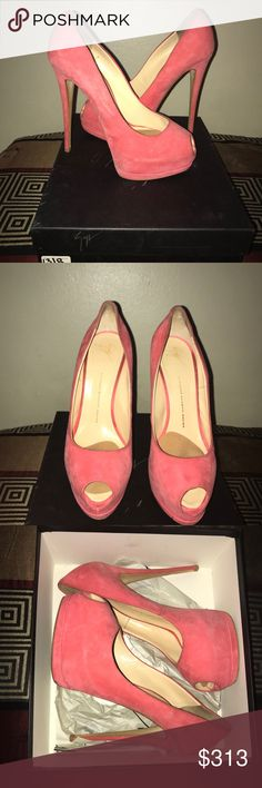 GIUSEPPE ZANOTTI SIZE 41 Giuseppe zanotti pink heels  Size 41  100% Authentic guaranteed box included  Please look closely at photos lightening may have caused some discoloration  Feel free to contact for further questions  No refunds Giuseppe Zanotti Shoes Platforms