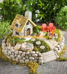 ▷ 1001 + ideas for cute and whimsical fairy garden ideas- a few . - ▷ 1001 + ideas for cute and whimsical fairy garden ideas – a couple of red miniature armchairs - Very Small Garden Ideas, Small Garden Design, Beach Fairy Garden, Fairy Garden Houses, Fairies Garden, Garden Pond, Garden Beds, Cactus E Suculentas, Fairy Furniture