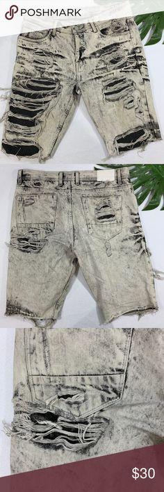 e7d4474acd4 Jordan Craig Legacy Edition Distressed Shorts Super distressed jean shorts  - Jordan Craig Legacy Edition.
