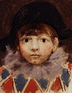 Pablo Picasso. Le fils de l`artiste en arlequin (Portrait de Paul). 1924 year