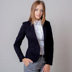 Collar Blouse, Blazer, Jackets, Women, Products, Design, Fashion, Down Jackets, Moda