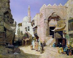 A street in Cairo 1881 By John Varley Jnr. (British, 1850-1933)