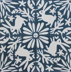 Otomi tiles from Grow House Grow. Tile Design, Layout Design, Plate Design, Ceramic Floor Tiles, Ceramic Art, Mexican Art, Surface Pattern Design, Print Patterns, Textile Patterns