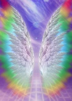 Angel wings & rainbow colors