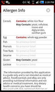 Free app that helps you easily locate allergens in grocery store products. #free #app