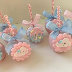 first birthday girl Baby Shower Cakes, Baby Shower Parties, Baby Boy Shower, Cloud Party, Candy Apples, Unicorn Party, Baby Decor, Cake Pops, Girl Birthday
