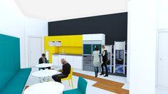 bleuelink - concept interior design - canteen
