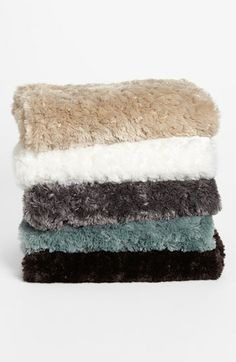 Nordstrom at Home 'Shaggy' Plush Throw Blanket available at #Nordstrom