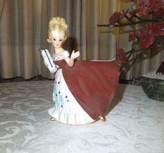 Authentic Vintage Relpo Girl Planter  1950's Japan No. K1367