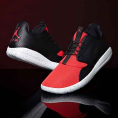 c4089957fb8 Opt for a minimal look with the Nike Jordan Eclipse Trainer in black    university red