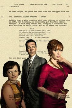 Peggy, Don, and Joan -- Mad Men Script