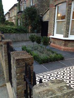 mosaic path knot garden slate paving london