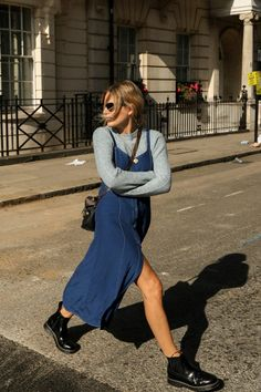 Dress Topshop Jumper (I really sized up in this – went for a 14 to make it slouchy) Topshop Boots Joseph Bag Louis Vuitton Sunnies Adam Selman X Le Specs Fashion Me Now, Look Fashion, Autumn Fashion, Street Fashion, Size 14 Fashion, Fashion Edgy, Estilo Cool, Street Looks, Mode Plus
