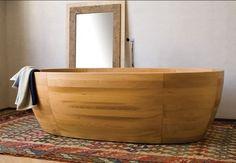 Vasca da bagno ovale in legno - LINEA VIRTÙ - ArchiExpo
