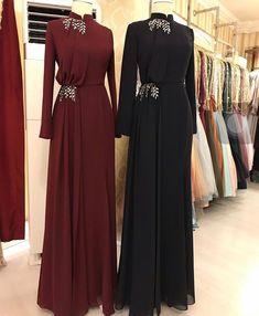Modest Fashion Hijab, Abaya Fashion, Muslim Fashion, Fashion Dresses, Hijab Evening Dress, Hijab Dress Party, Mode Abaya, Mode Hijab, Indian Designer Outfits