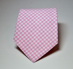 Pink Gingham Mens Necktie. $22.95, via Etsy.