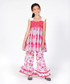 Another great find on #zulily! Pink Love Letter Lily Tunic & Pants - Infant, Toddler & Girls #zulilyfinds