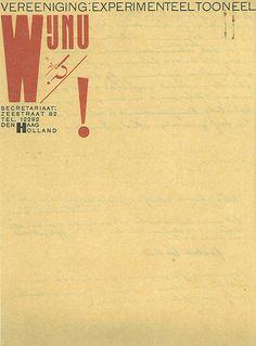 Piet Zwart, Wij Nu Experimenteel Tooneel, (The Hague), 1925