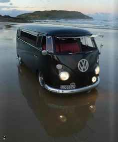 VW Van, flat black