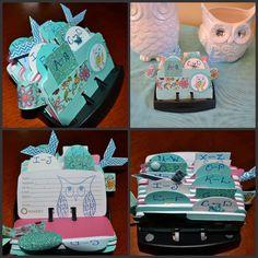 Origami Owl Inspired Rolodex by ideezine4u on Etsy, $25.00  http://www.etsy.com/listing/127014172/origami-owl-inspired-rolodex