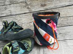Chalkbag Jeans-pink-orange Orange, Fanny Pack, Pink, Etsy, Bags, Bouldering, Beautiful Bags, Old Jeans, Sachets