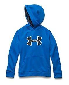 b3d4583cf3d Under Armour Storm Armour Fleece Big Logo Hoodie for Boys Jet Blue Boys  Hoodies