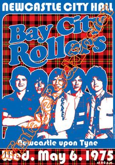 588 - BAY CITY ROLLERS - Newcastle, Uk - 6 may 1974  - artistic concert poster