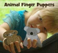 Animal finger puppets #koala #owl