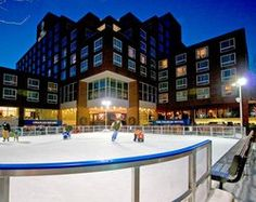 The ice rink at the Charles Hotel in Harvard Square