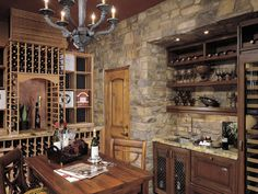 I know this is a wine cellar, but I want my kitchen to look like this! I just have a thing for medieval/castle designs; I guess it makes me feel like a princess.